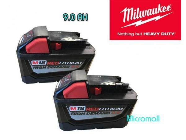 2 x brand new Milwaukee m18 9.0 REDLITHIUM High Demand 9.0 Battery Pack 48-11-1890